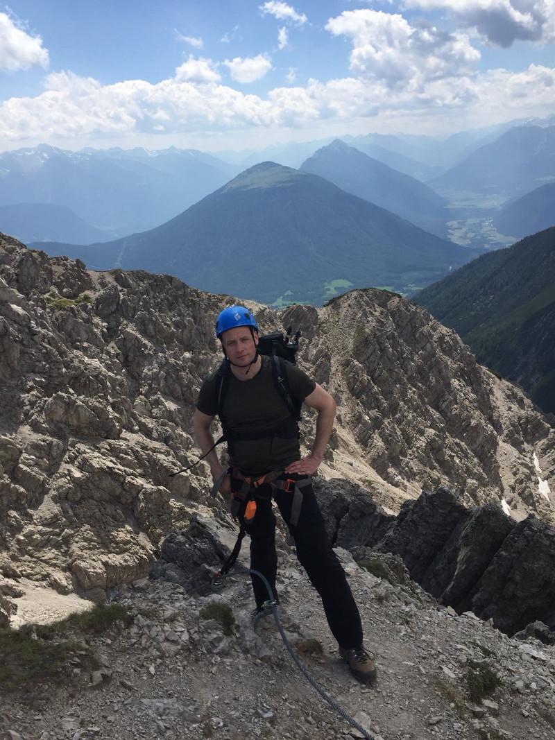 Daniel Wenzel beim Bergsteigen