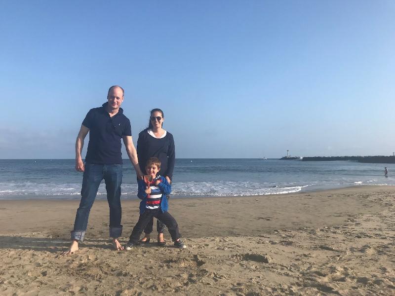 Daniel Wenzel mit Familie