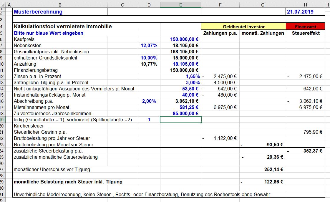 Immobilien Rendite Berechnung Beispiel