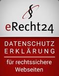 eRecht 24 Siegel Datenschutzerklärung