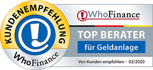 WhoFinance Top Berater Geldanlage 2020