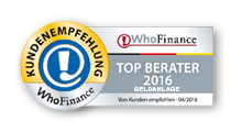 WhoFinance Top Berater Geldanlage 2016
